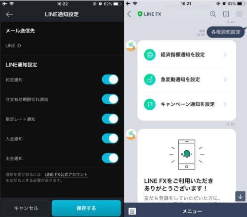 LINEFX通知設定